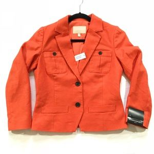 Banana Republic Blazer Orange Linen Cotton Size 6